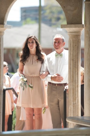 Katelyn Elisabeth Brown, junior class representative, escorted by her father, Pete Brown. 2016 Alumnae Reunion Weekend
