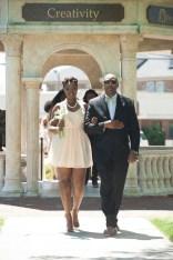Anna-Marie Jordan, senior class representative, escorted by her father, Rand Jordan. 2016 Alumnae Reunion Weekend