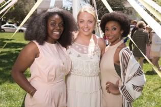 May Court Princess Shainie Cox, Queen MK Jabbia and Prince Paris Hawkins. 2016 Alumnae Reunion Weekend