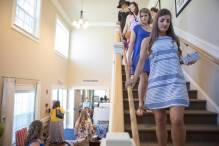 Attendees tour the newly dedicated Alpha Delta Pi sorority house during the Brenau University Alumnae Reunion Weekend on Saturday, April 16, 2016, in Gainesville, Ga. (AJ Reynolds/Brenau University)