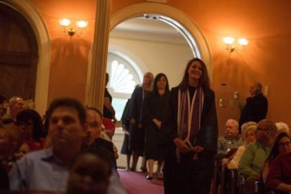 Kaelan Schultz processes in during the Brenau University School of Nursing Pinning Ceremony on Thursday, May 5, 2016 in Pearce Auditorium in Gainesville, Ga. (AJ Reynolds/Brenau University)