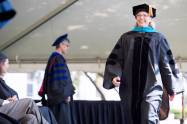 Sara Propes, BU '16, walks across the stage to receive her Occupational Therapy Doctorate degree during the Brenau University Undergraduate and Graduate Commencement on Saturday, May 7, 2016, in Gainesville, Ga. (AJ Reynolds/Brenau University)