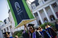 Melissa McDowell, assistant professor of nursing, takes part in the processional during the Brenau University Undergraduate and Graduate Commencement on Saturday, May 7, 2016, in Gainesville, Ga. (AJ Reynolds/Brenau University)