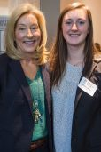 Amy Whitley with her daughter Meghan Whitley during the 4th Annual Women's Leadership Colloquium on Friday, March 17, 2017. (AJ Reynolds/Brenau University)
