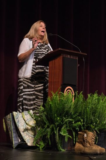 Patricia Wolfe speaks during the 4th Annual Women's Leadership Colloquium on Friday, March 17, 2017. (AJ Reynolds/Brenau University)