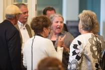 Julie Kirksey, WC '68, shares a laugh with Judy Davis Fontenot, WC '67, right, and Sarah McCrary during the Back to Campus Luncheon. (AJ Reynolds/Brenau University)