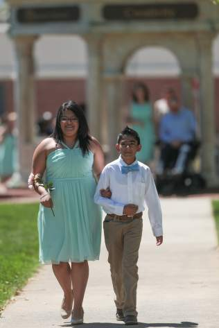 Kendy Manzano and her younger brother during the 2017 Alumnae Reunion Weekend at Brenau University, Saturday, April 08, 2017. (Photo/ John Roark for Brenau University)