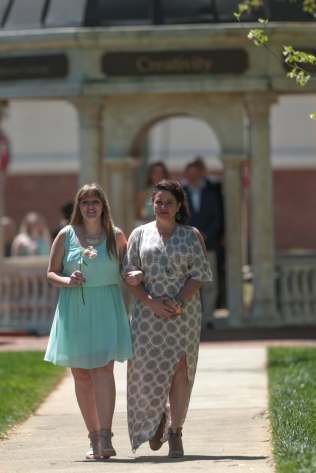 Hannah Adams and her mother during the 2017 Alumnae Reunion Weekend at Brenau University, Saturday, April 08, 2017. (Photo/ John Roark for Brenau University)
