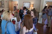 Alumnae gather and reminisce inside the Zeta Tau Alpha sorority house. (AJ Reynolds/Brenau University)