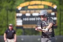 Brenau's Courtney Kenney takes a practice swing while she's on deck. (AJ Reynolds/Brenau University)
