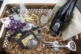 A basket from the raffle from the homecoming celebrations at Brenau University. (AJ Reynolds/Brenau University)