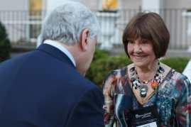 Brenau President Ed Schrader and Joyce Ann Willis (AJ Reynolds/Brenau University)