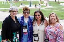 Lynn Thurmond Kozloski, form left to right, Betsy Dye Kinsella, Debra Como Cipriani and Gale McKibbon. (AJ Reynolds/Brenau University)