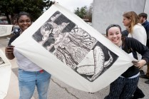 The Colossal Prints printmaking workshop at Brenau University on Friday, March 23, 2018.