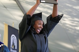 Brenau University Published by Michael McPeek Page Liked · May 7 · Jametria Belo reacts after she received her diploma during the Women's College Commencement at Brenau University Friday May 4, 2018 in Gainesville, Ga. (Jason Getz for Brenau University)