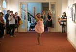 A dancer performs during the Brenau Collaborative art show during Alumnae Reunion Weekend & May Day at Brenau University Saturday, April 14, 2018, in Gainesville, Ga. Photo by Jason Getz / Brenau University