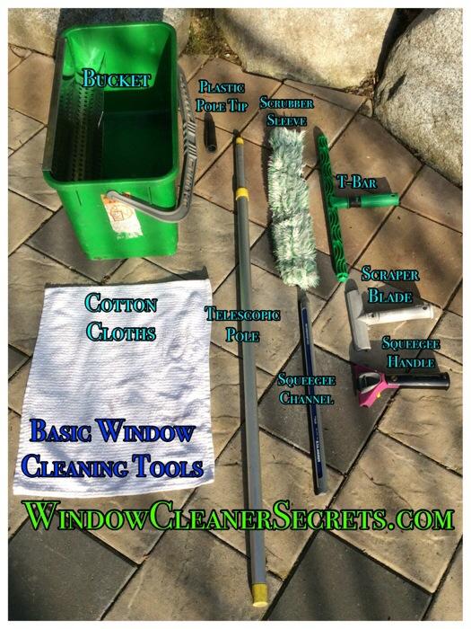 Basic Window Cleaning Tools - WindowsCleanerSecrets.com