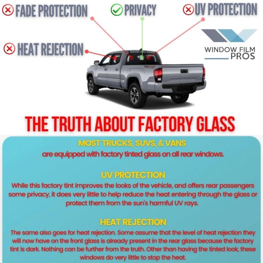 the truth about factory tinted glass - window tinting information by window film pros