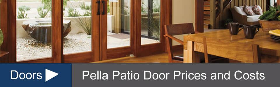 pella door prices costs for sliding