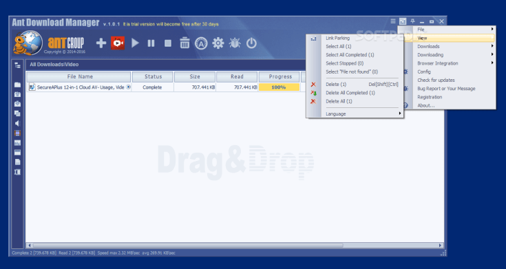 Ant Download Manager 1.19.4 Portable Activation
