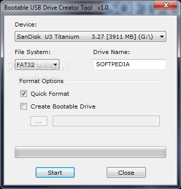 Download Bootable USB Drive Creator Tool 1.0