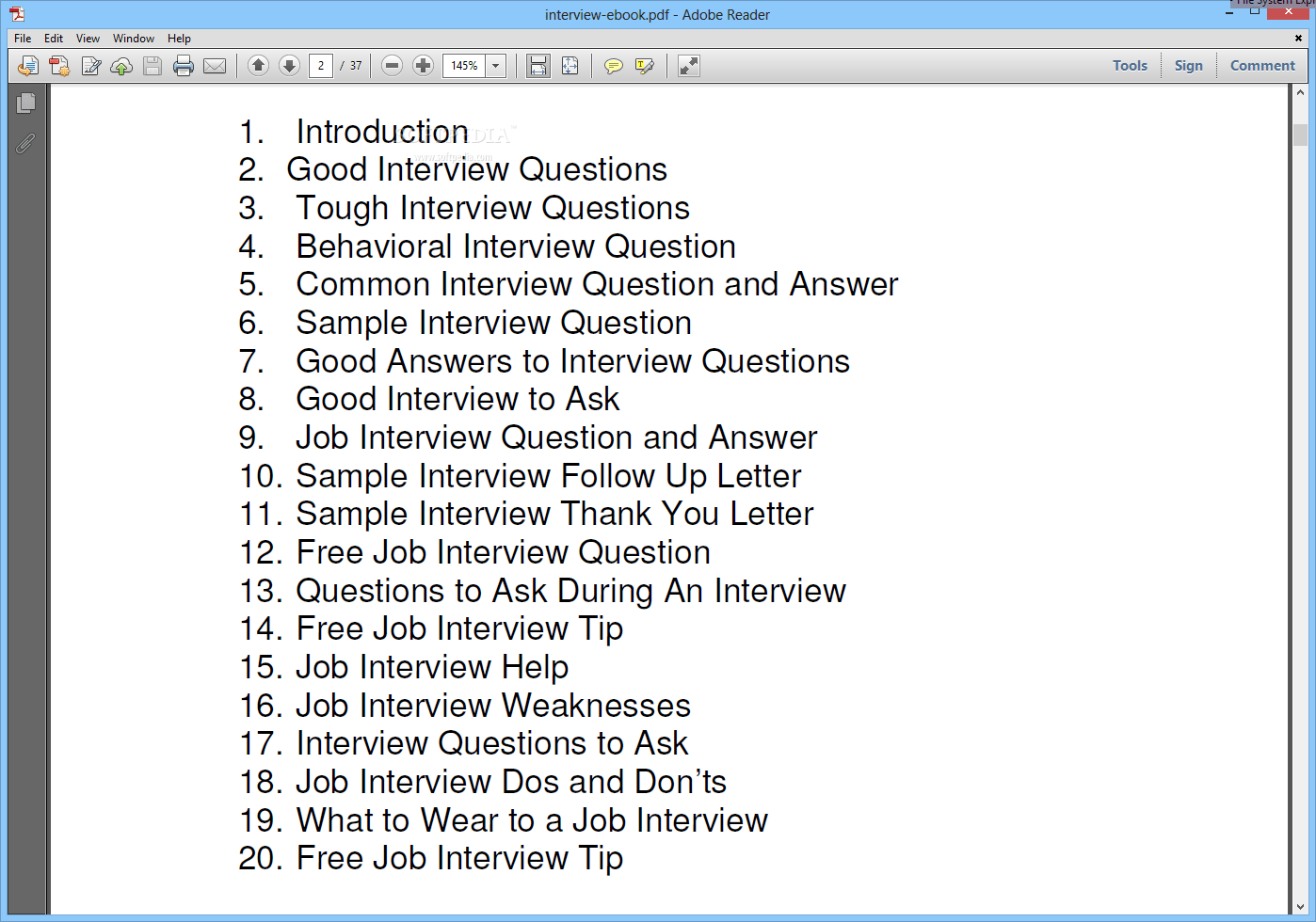 Download Common Interview Questions And Answers 1 0