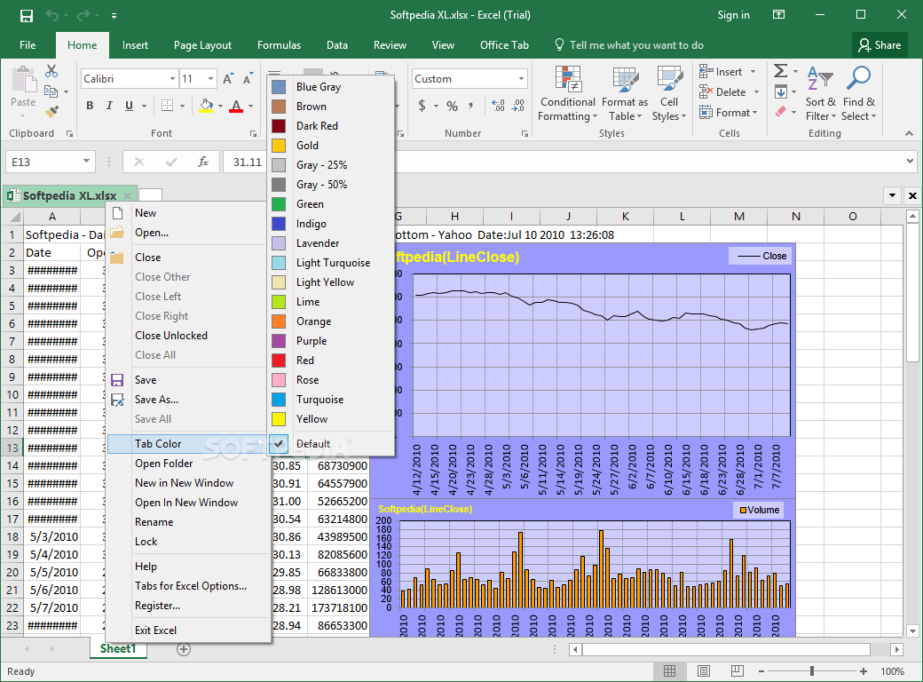 Download Tabs For Excel 13 10