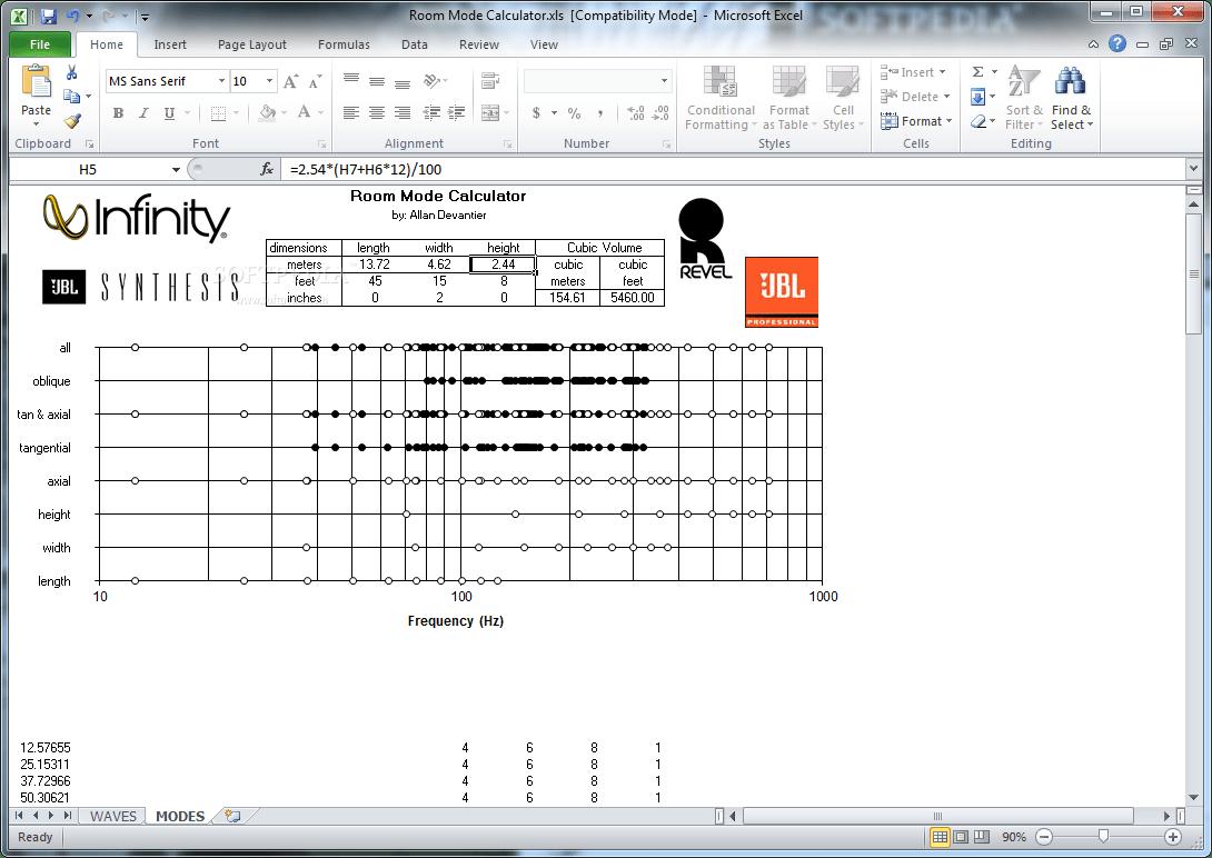 Download Room Mode Calculator