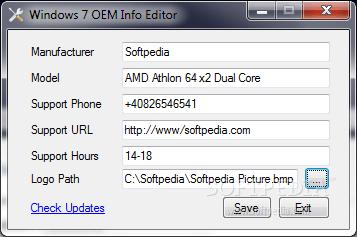 Download Windows 7 Oem Info Editor 1.0
