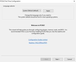ps2 emulator language settings