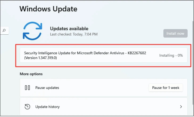 Fix Windows 11 Webcam Not Working by Checking for Windows Updates