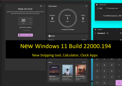 New Windows 11 Build 22000.194