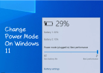 How to Change Power Mode on Windows 11?