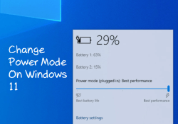 How to change power mode on windows 11
