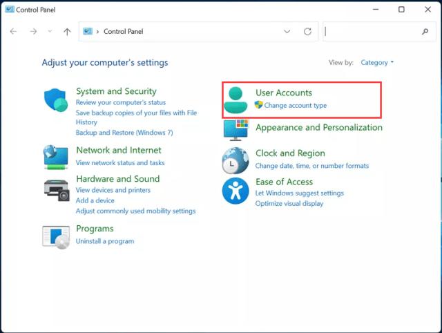 Check Windows 11 User Account