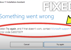 How to fix Error Code 0x8007007f on windows installation assistant