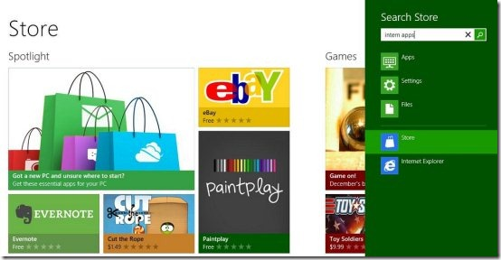 Search store windows8