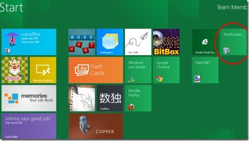 PrintScreen Windows 8