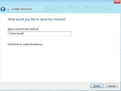 how to add windows to go to control panel