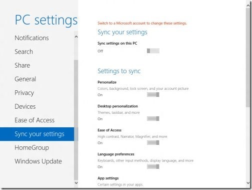 Windows 8 PC settings 9
