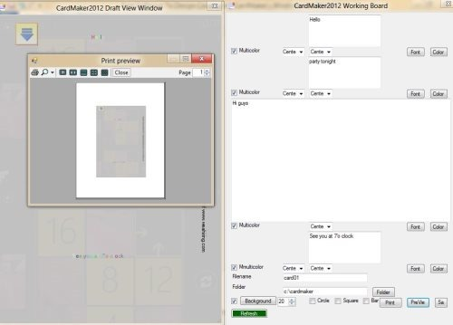 features of card making software for windows 8 - Card Making Software