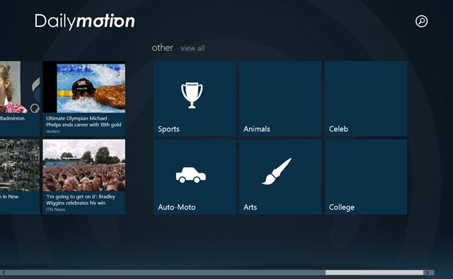 DailyMotion: Free Windows 8 Online Videos App   Windows 8 Freeware