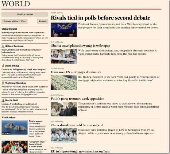 Financial Times Windows 8 App
