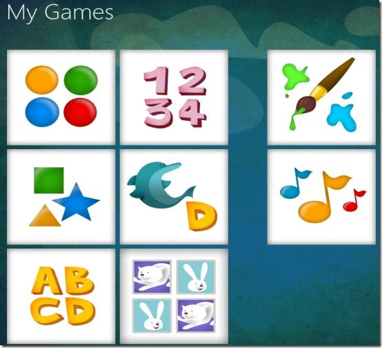 Windows 8 kids game app
