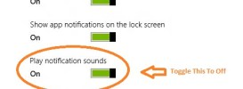 how to slient the notification sounds windows 8