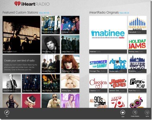 Windows 8 radio app
