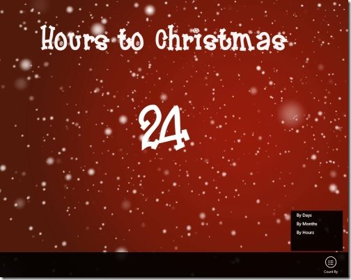 Windows 8 Christmas Countdown App