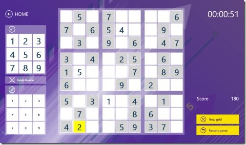 Windows 8 Sudoku Puzzle Apps