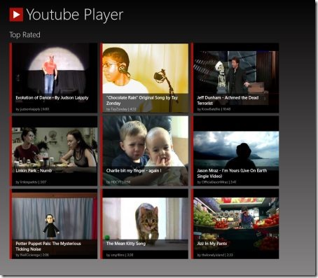 Windows 8 YouTube apps