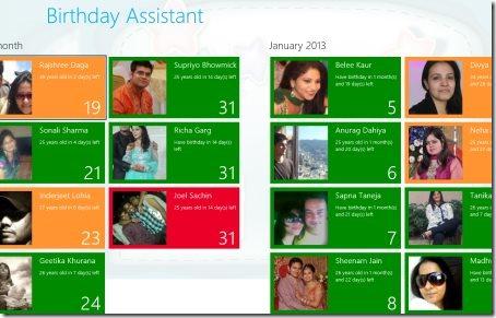 Windows 8 birthday reminder apps
